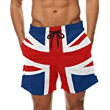 0ccfaed700 COOSUN Men's UK British Flag Beach Board Shorts Quick Dry Swim Trunk