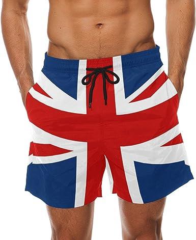 Brazil Flag Men Boy Casual Quick-Drying Beach Pant Swim Surf Shorts