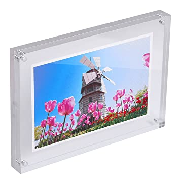 Amazoncom Hde Acrylic Photo Frame 5x7 Magnetic Double Sided Clear