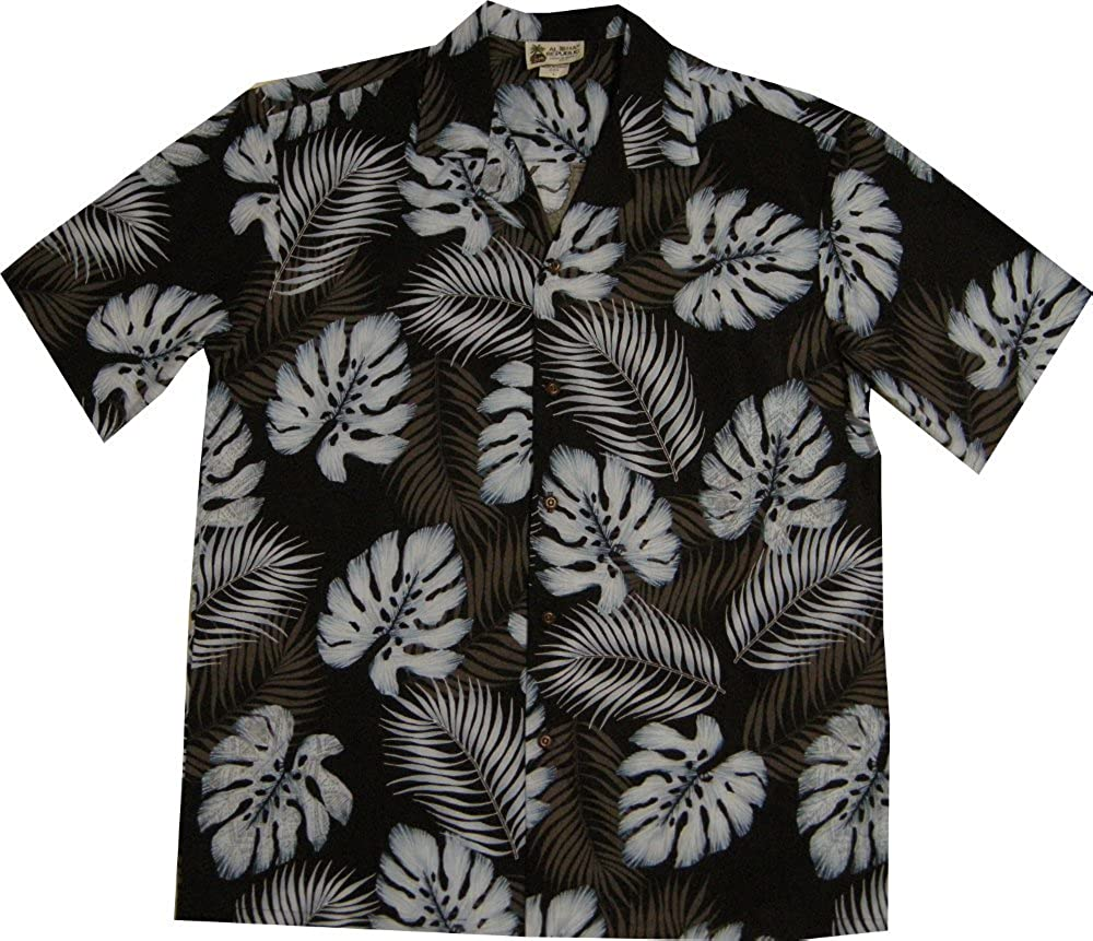 ddad6eb7a Aloha Republic Fern Men's Hawaiian Shirt - Made in Hawaii USA at Amazon  Men's Clothing store: