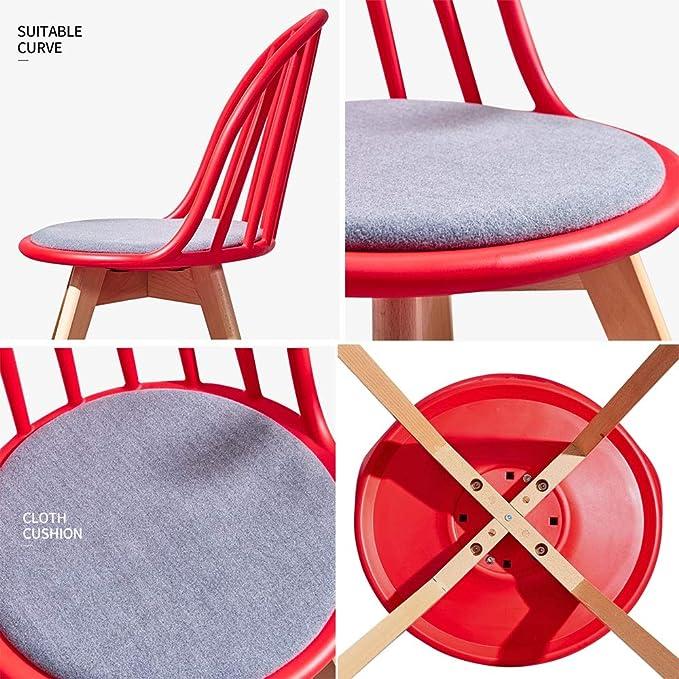 Amazon.com: Sillones de madera maciza, respaldo cómodo silla ...