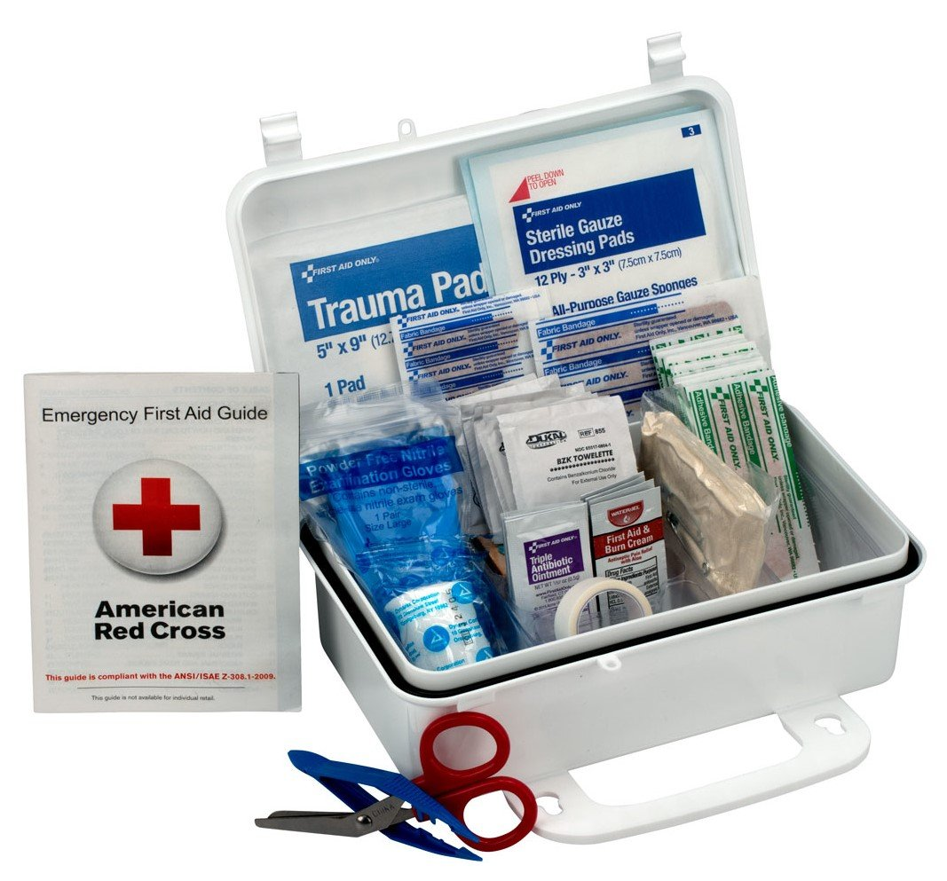 First Aid Only 10 Person First Aid Kit, Weatherproof Plastic Case product image