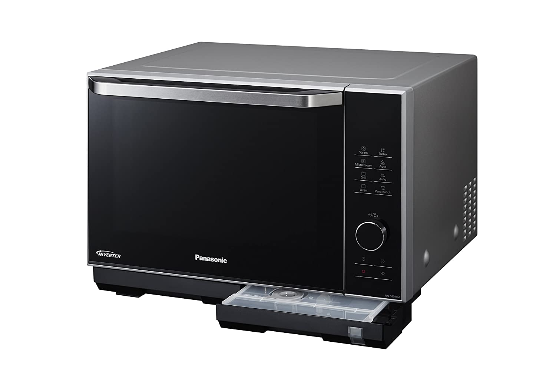 Panasonic NN-DS596 - Microondas Horno con Grill Combinado (1000 W, 27 L, 6 niveles, Inverter, Grill 1200 W, 23 modos, recubrimiento antiadherente sin ...