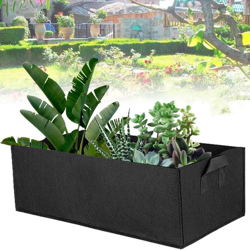 30 con Mango para Plantar Frutas Y Verduras,Verde,40 20 GXHGRASS Bolsa Rectangular para Plantar Jardines Fieltro Square Plantando Contenedor