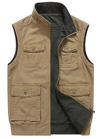 Herren Gute Qualität Outdoor Westen Gilets Vest Draussen Mehrfachtaschen Ärmellose Jacke Angeln Jagd Schießen Übergangsjacke