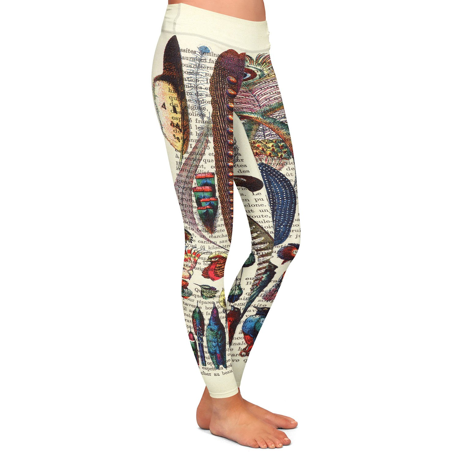 Feather Collection Athletic Yoga Leggings from DiaNoche Designs by Madame Memento
