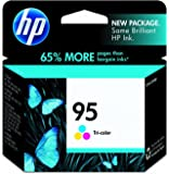 HP 95 Tri-color Original Ink Cartridge (C8766WN) for HP Deskjet 460 2575 C4150 C4180 6830 6840 9800 HP Officejet 100 150 6940 6988 H470 7210 7310 7410 J6480 HP Photosmart 335 375 385 422 425 428 475 2575 C4150 C4180 8049 8050 8150 8350 8450 8750 HP PSC 1510 1610 2355