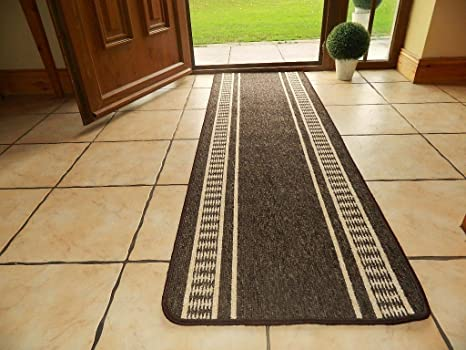 LARGE SMALL LONG DOOR MATS WASHABLE KITCHEN RUGS HALL RUNNERS UTILITY RUG  (3 SIZES U0026 4 COLORS AVAILABLE) CHEAP ! (CHOCOLATE, 80 X 133 CMS):  Amazon.co.uk: ...