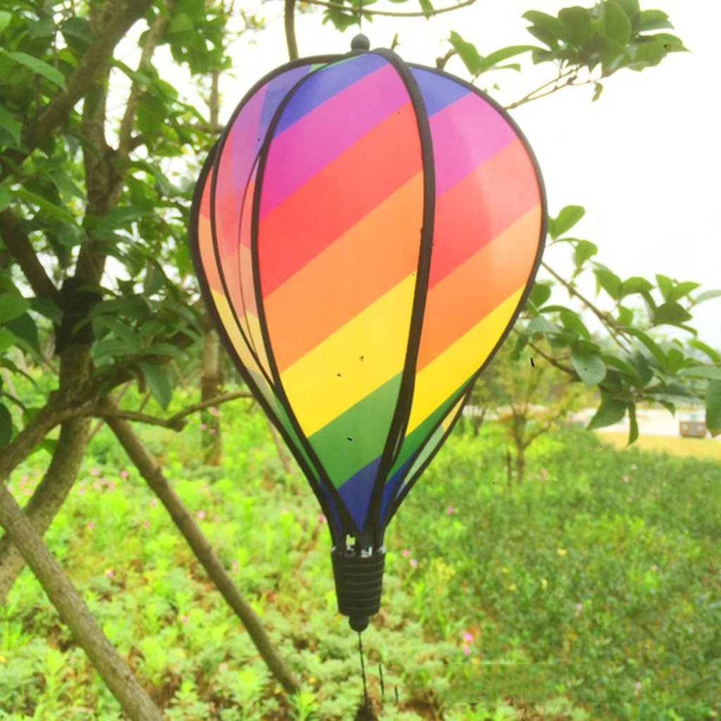 Outdoor Advertisements Backyard Camping Decorating Festival Celebration SM SunniMix 3 Pieces Hot Air Balloon Wind Spinners for Home Garden Lawn