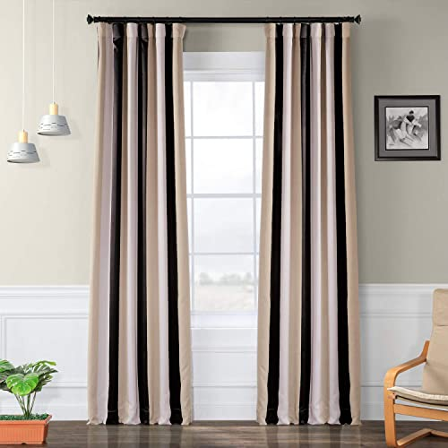 HPD Half Price Drapes BOCH-KC31-108 Blackout Room Darkening Curtain 1 Panel , 50 X 108, Georgetown