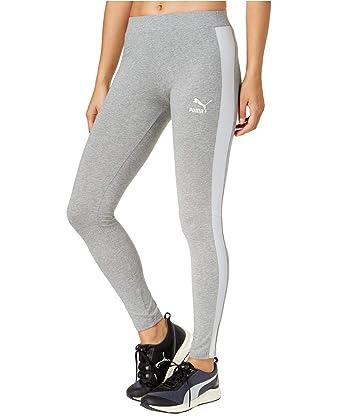 2bc0dcf603d096 PUMA Women's T7 Metallic Leggings Grey/Silver Metallic Small at Amazon  Women's Clothing store: