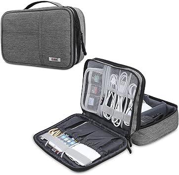 BUBM Organizador para Eléctronica Estuche para iPad Mini Bolsa de Cables Funda de Bantería Extra(pequeño,Gris): Amazon.es: Electrónica