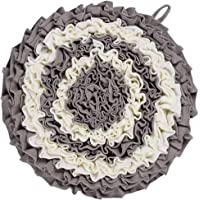 Lemonda Washable Flower Shape Pet Dog Snuffle Mat Training Feeding Mat Nosework for Dogs Activity Fun Play Mat for Relieve Stress Restlessness (Style I)