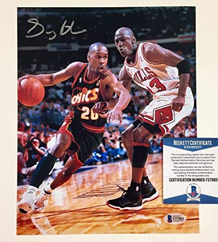 4fc15da9a62c08 Gary Payton Autograph Autographed Signed Sonics 8x10 Photo Michael ...