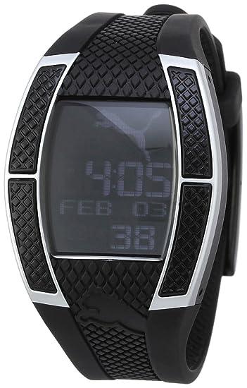 Puma A.PU910432002 - Reloj digital de mujer de cuarzo con correa de resina negra