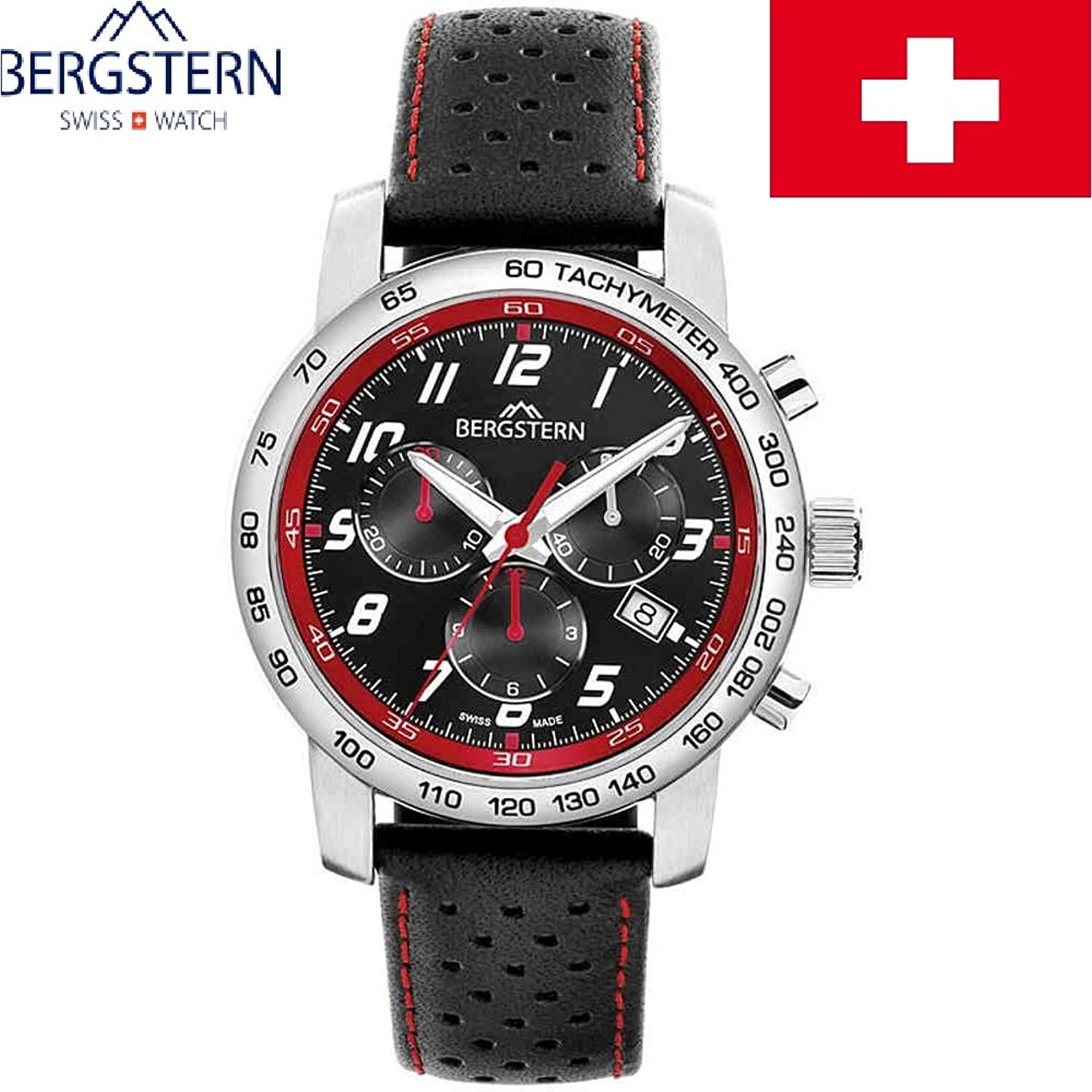 ARMBANDUHR HERREN KOLLEKTION ACTIVE BERGSTERN B020G103 whatch SWISS MADE hoher QualitÄt MADE IN SVIZZERA.Cinturino