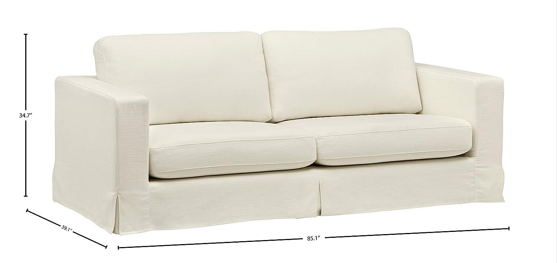 Amazon com stone w sofa optic white kitchen dining