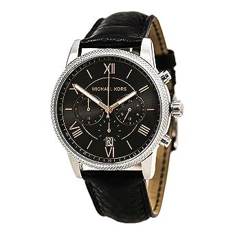 amazon com michael kors hawthorne black dial black leather mens michael kors hawthorne black dial black leather mens watch mk8393