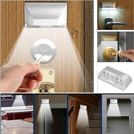 homedecoam Auto PIR Puerta Keyhole Sensor de movimiento detector lámpara de luz LED