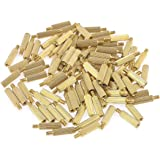 uxcell 100 Pcs Male Female PCB Thread Brass Pillars Standoff Spacers M2x12mmx15mm