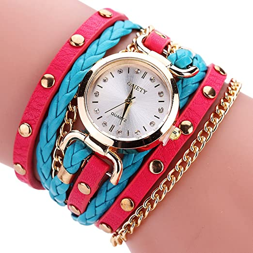 Womens Bracelet Watches COOKI Lady s Girl s Fashion Small Table Twist Rivet  Leather Bracelet Quartz Watches on Sale Clearance Lady Watches Female  Watches ... 57ab6cf56