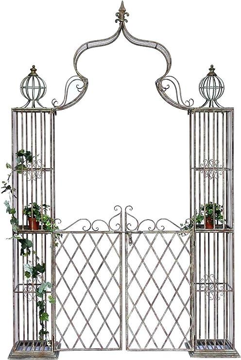 Preferenza Arco di Rose con Porta Pforte 110241 in Metallo Ferro-battuto CI31