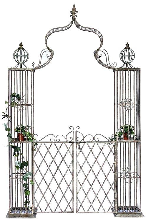 Cancelletti In Ferro Per Giardino.Arco Di Rose Con Porta Pforte 110241 In Metallo Ferro Battuto