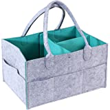 Newborn Registry Must Haves Portable Nursery Tote Bag for All Diaper Sizes Basket for Boys Girls KOBWA Baby Diaper Caddy Organizer