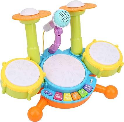 needlid Juguete de batería para niños, Instrumentos Musicales ...