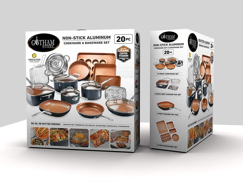 Gotham Steel Cookware + Bakeware Set