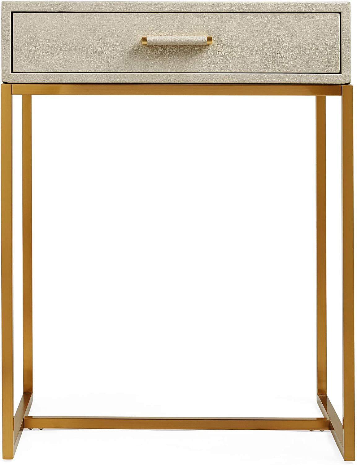 Faux Leather Compact Desk Beautify Dressing Table Office Living Room Taupe and Gold Lux Dressing Table Vanity Table Console Desk Makeup and Jewellery Storage for Bedroom