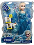 """Frozen Doll Elsa (12"""") with Frozen Mini Olaf (3"""") and Frozen Wand - Multi Colour"""