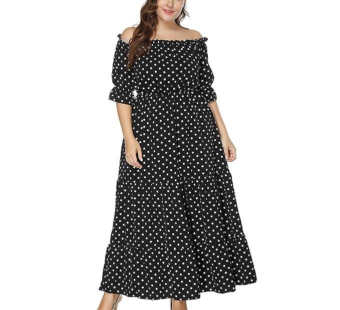 Plus Size Summer Long Shoulder Dress for Women 4XL 5XL 6XL ...