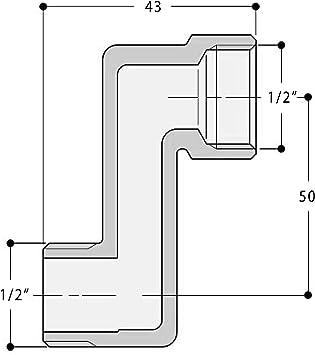 Acquastilla 115711/Raccord excentr/é retrogruppo chrom/é