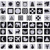 TOYANDONA High Contrast Baby Flash Newborn Black White Visual Stimulation Learning Activity Educational Toys ( 0-6…