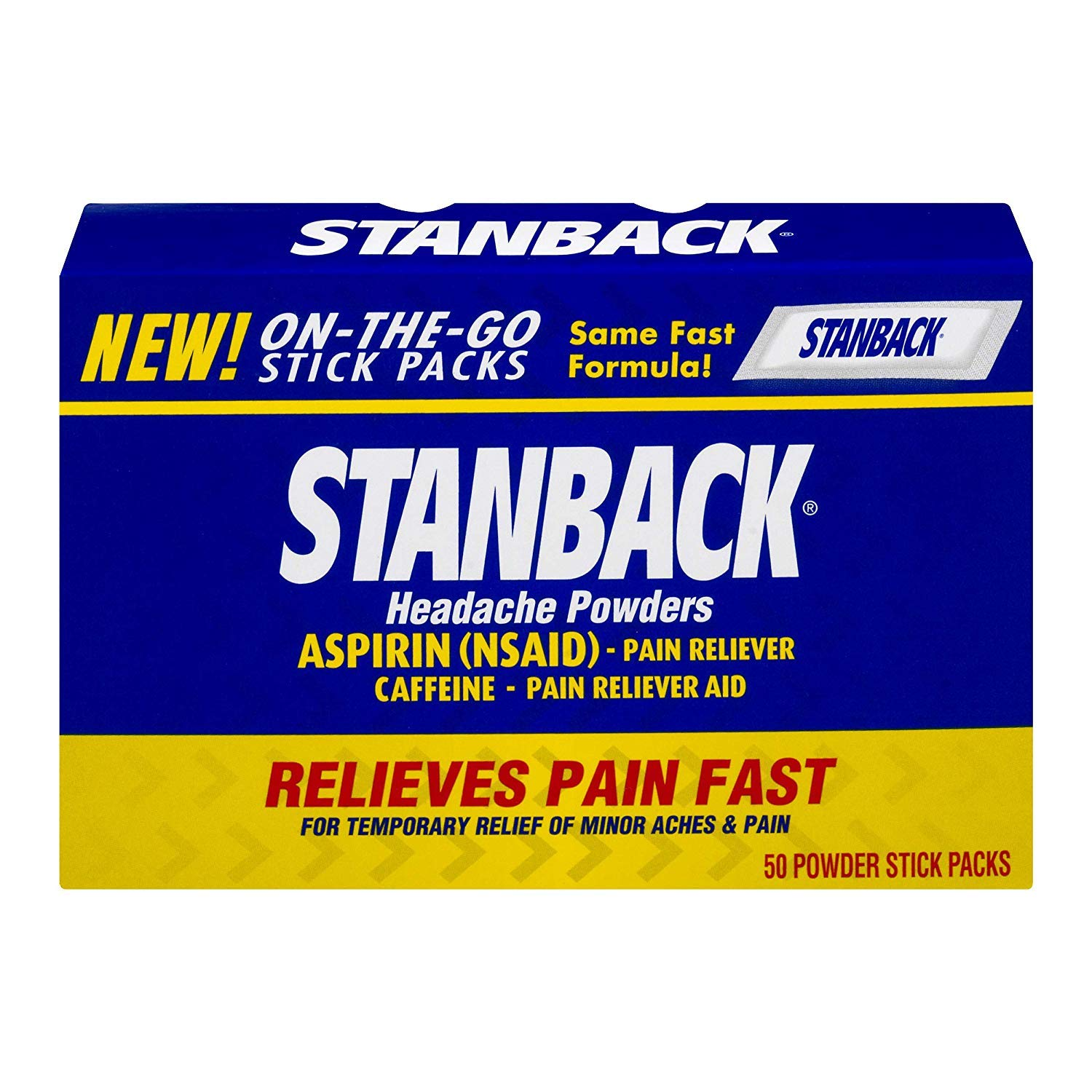 Stanback Headache Powders 50 Each (Pack of 6) by Stanback