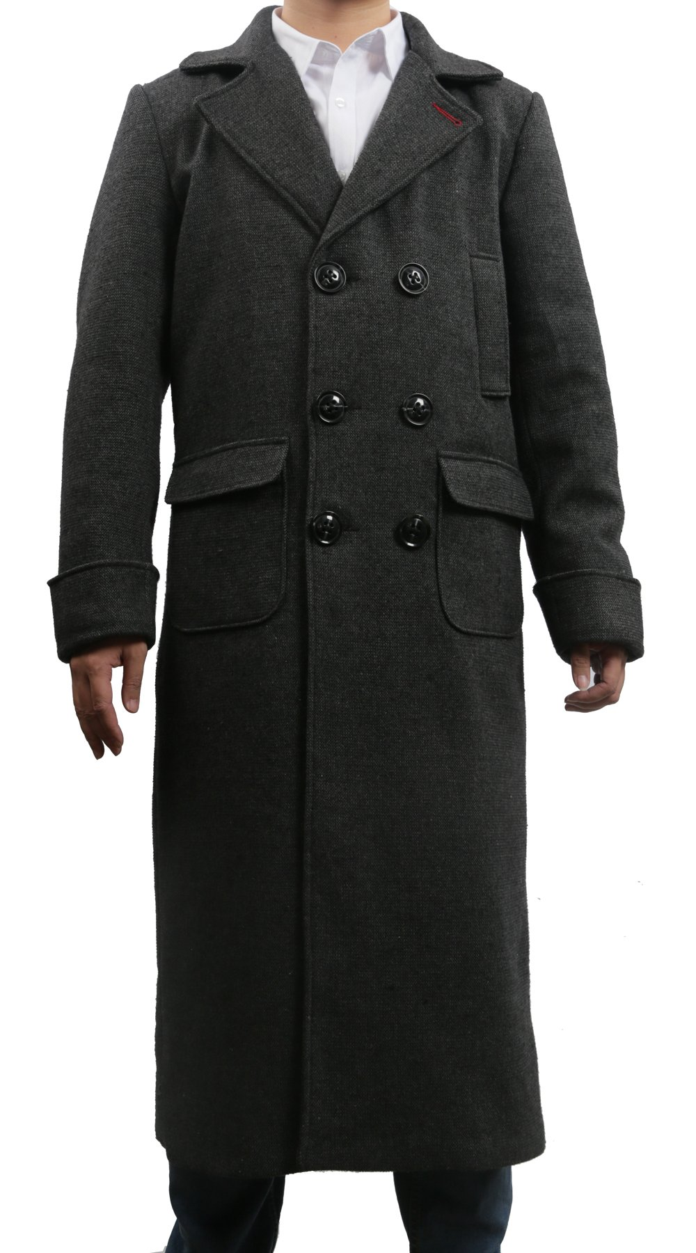 Stylish Detective Cosplay Jacket Trench Coat Costume for Adult Halloween XX-Large