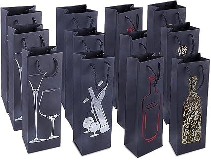 Bolsas de regalo para botellas de vino, 12 unidades, con ...