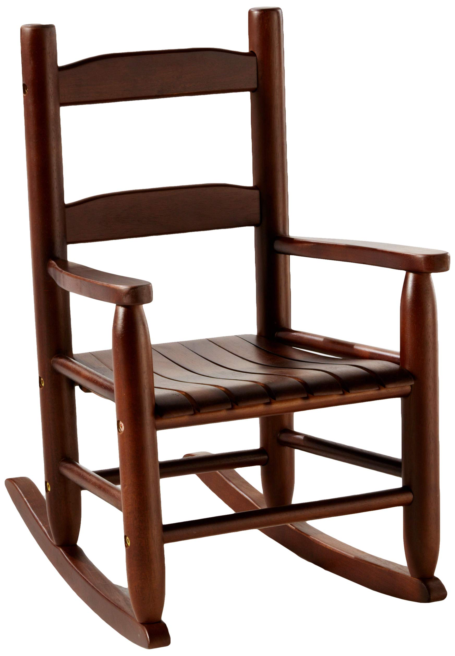 Lipper International Child's Rocking Chair, 14.5'' W x 19.75'' D x 23.75'' H, Walnut Finish by Lipper International