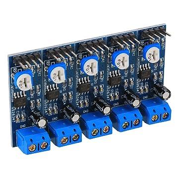 WEONE 200 veces ganancia 4V-12V LM386 Amplificador de sonido Módulo 10K Resistencia ajustable (