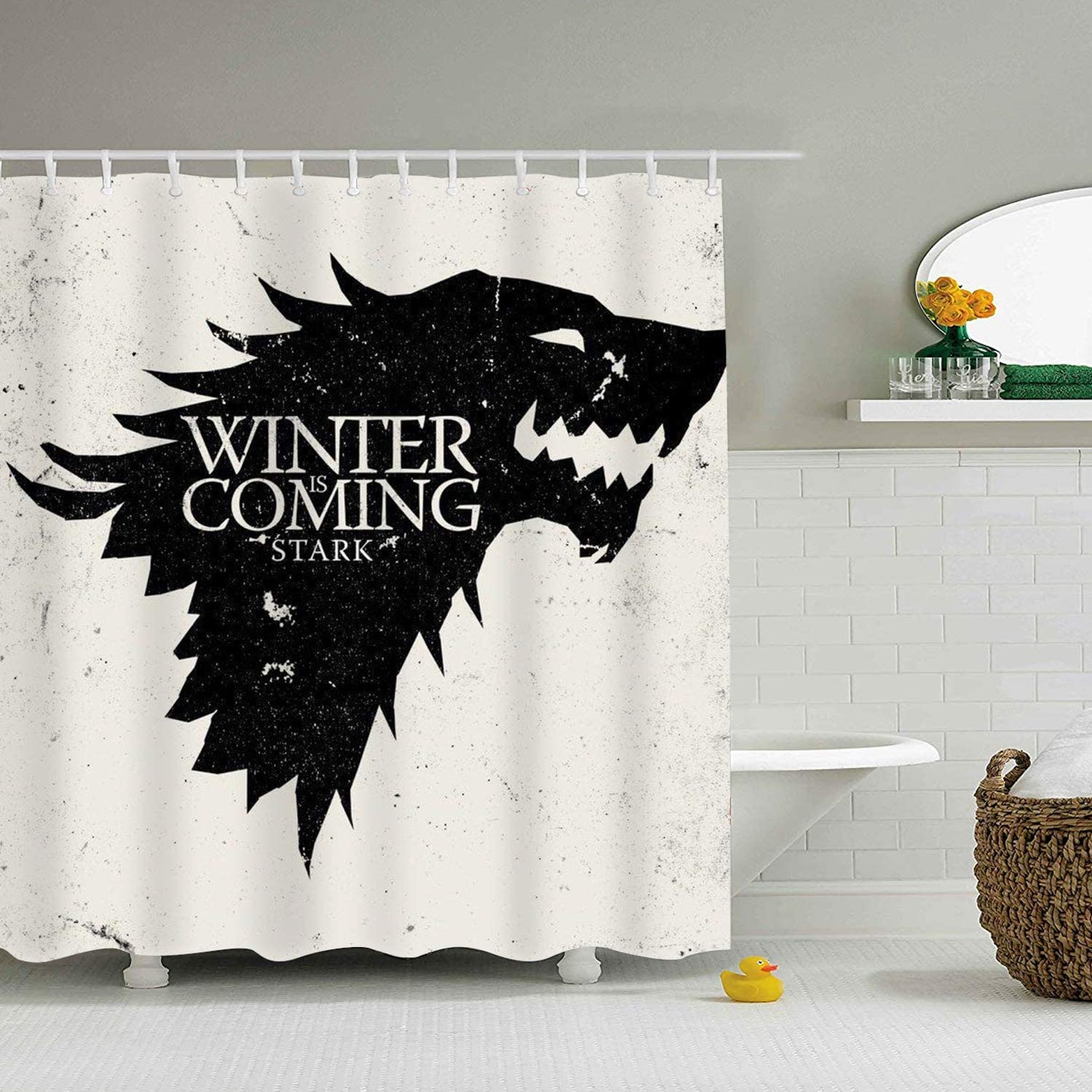 Hotel Luxury Water Repellent 65 x 72 inch for Decorative Bathroom Curtains Heavy Duty Fabric Game of Thrones Shower Curtain �C Spa