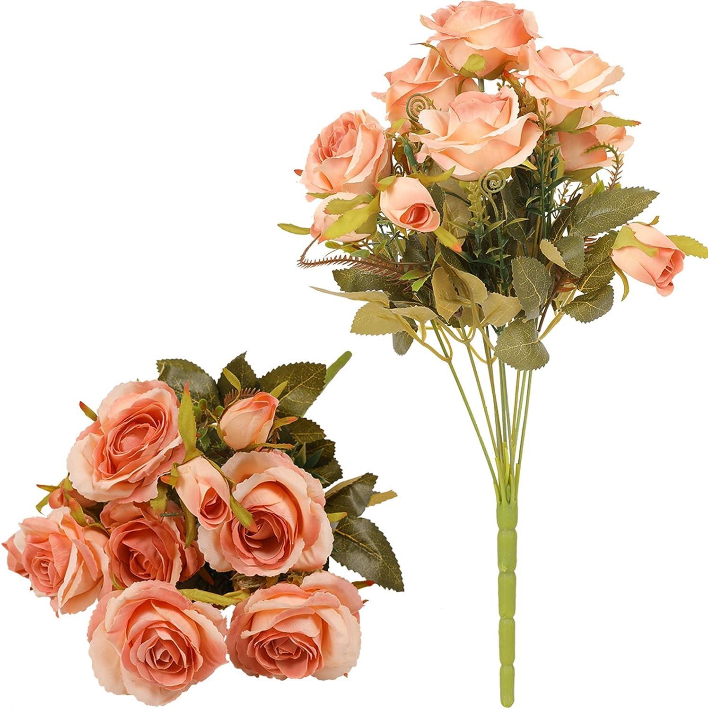 19,68  Single Long Stem Fake Rose Seide Braut Hochzeitsstrau/ß Realistische Blume f/ür Hausgarten Party Hotel B/üro Dekor Blossom Roses, Champagner Pink Tifuly 12 PCS K/ünstliche Rosen