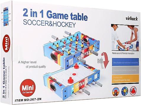 Virhuck Futbolin Foosball, Juego de fútbol de Mesa, Grano de Madera Juguete Navidad (20in): Amazon.es: Juguetes y juegos