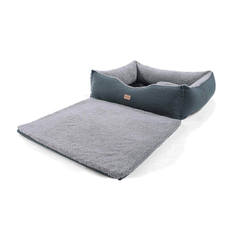 Homeoutfit24 Lucky - Cesta para perro | lavable | cama con cojín reversible y cojín de mimos Daisy | cesta para mascota, de poliéster y peluche: Amazon.es: ...