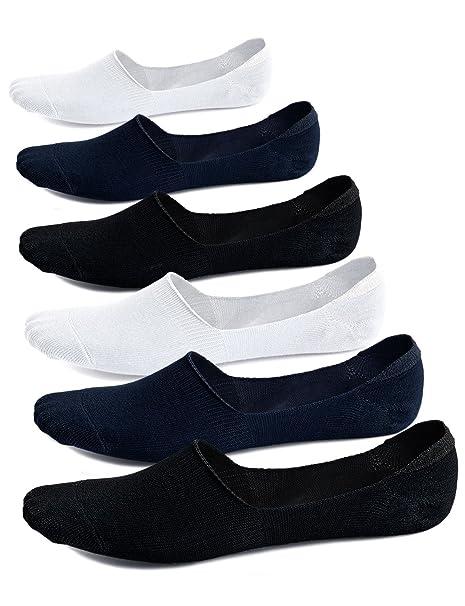 Calcetines Invisibles Hombre Calcetines Cortos Bajo, Hombre Calcetines Barco de Algodón Respirable Calcetines para Deporte