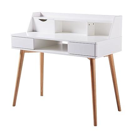 Elegant Versanora Creativo Stylish Desk   White/Natural