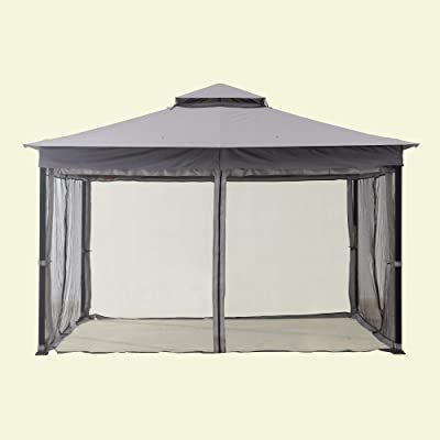 Sunjoy 110109282 Original Replacement Mosquito Netting for A+R Easy Up Gazebo (10X12 Ft) L-GZ472PST-I Sold at Lowe's, Grey: Garden & Outdoor