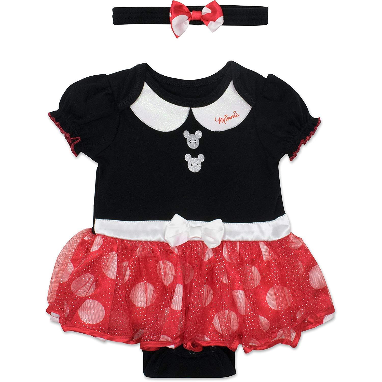2fa863bd4 Amazon.com: Disney Minnie Mouse Baby Girls' Costume Tutu Dress Bodysuit:  Clothing