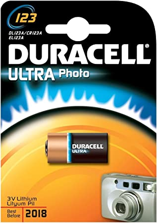 MediaCom IT-Distribution GmbH Duracell Batería De Litio, Foto, Cr123A, 3V, Ultra, OEM, A Granel (1-Pack): Amazon.es: Electrónica