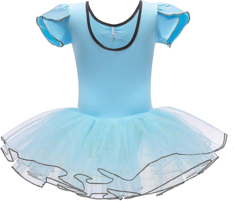 FONLAM Dance Ballet Leotards for Girls Tutus Fairy Dancing Costumes Princess Dress Ballerina Outfits for Toddler Kids Gymnastics Sports Training